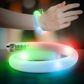White LED and Light-Up Tube Bracelet