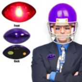 Purple LED and Light-Up Football Reflector