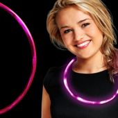 "Pink LED 27"" Necklace"