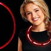 Red LED Necklace - 27""