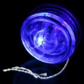 "2"" Yo Yo W/ Blue L.E.Ds - Clear Exterior"