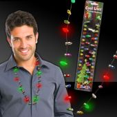 "Red & Green Holiday 33"" LED Necklace"
