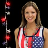 Patriotic Star LED Necklace