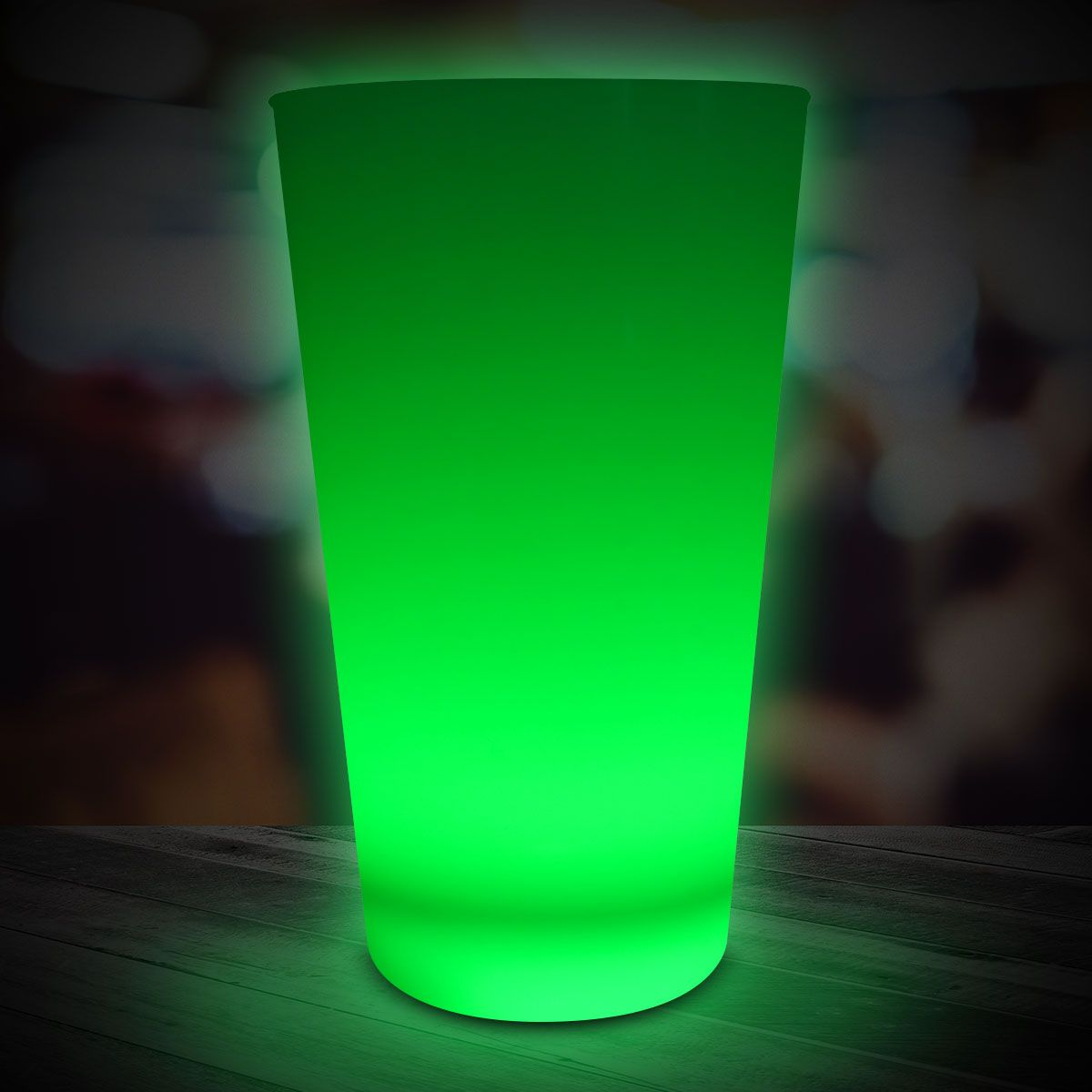 Green LED and Light-Up Cup-16oz LIT510EA