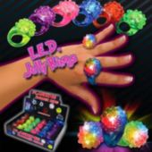 LED Flower Jelly Rings-24 Pack