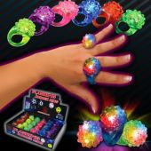 LED Flower Jelly Rings-Unit of 24