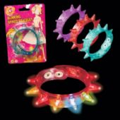 Assorted Color LED Spike Bracelets - 12 Pack