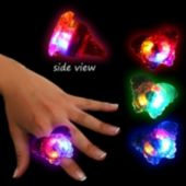 Assorted Color LED Butterfly Jelly Rings