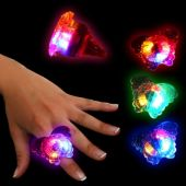 LED Butterfly Jelly Rings-Unit of 24