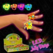 LED Spider Jelly Rings-24 Pack