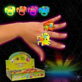 LED Spider Jelly Rings-Unit of 24
