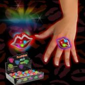 LED Red Lip Jelly Rings-Unit of 24
