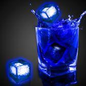 Blue Liquid Activated Light Up Ice Cubes - 12 Per Unit
