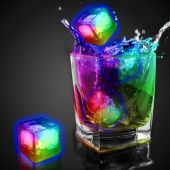 Rainbow Liquid Activated Light Up Ice Cubes - 12 Per Unit