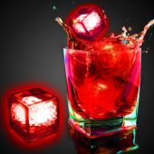 Red Liquid Activated Light Up Ice Cubes - 12 Per Unit