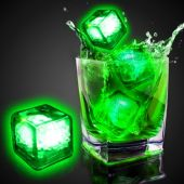 Green Liquid Activated Light Up Ice Cubes - 12 Per Unit