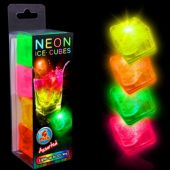 Neon Assorted LED Ice Cubes-4 Pack