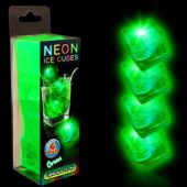 Neon Green LED and Light-Up Ice Cubes- Unit of 4
