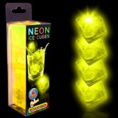 Neon Yellow LED Ice Cubes-4 Pack
