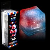 Red, White and Blue LED Ice Cubes-Unit of 4
