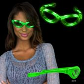 Green LED Sunglasses