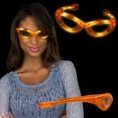 Orange LED and Light-Up Sunglasses