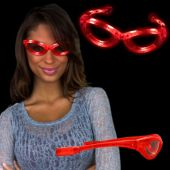 Red LED and Light-Up Sunglasses