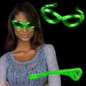 Green LED and Light-Up Sunglasses