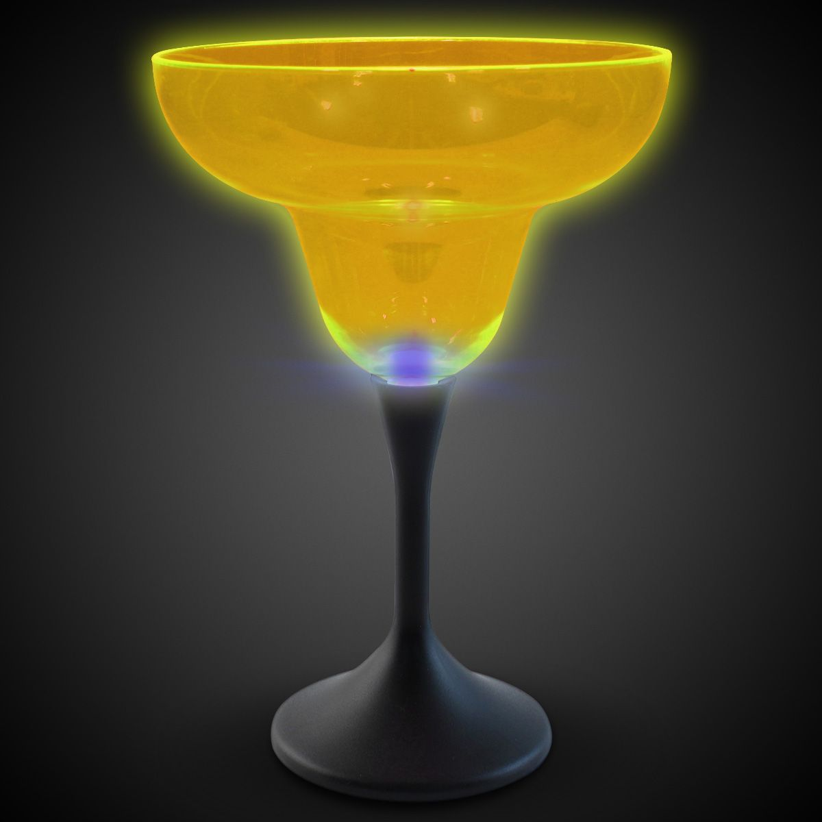Neon Yellow LED and Light-Up Margarita Glass-10oz LIT787EA