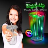 Multi Color LED Double Wall 16 Oz Cup