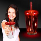 Red LED and Light-Up Double Wall Cup-16oz