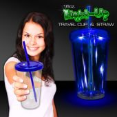 Blue LED Double Wall Cup-16oz