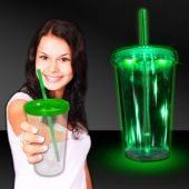 Green LED and Light-Up Double Wall Cup-16oz