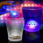 Multi-Color LED Disco Ball 8 Oz Rocks Glass