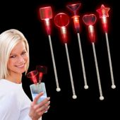 Red LED and Light-Up Cocktail Stir Sticks