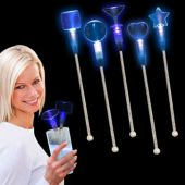 "Blue LED Cocktail 9"" Stir Sticks"