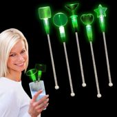 Green LED and Light-Up Cocktail Stir Sticks