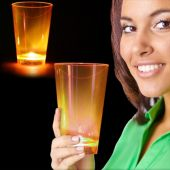 Neon Orange LED and Light-Up Cup-12oz