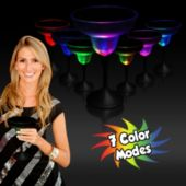 Multi-Color LED Margarita Glass With Black Stem - 10.5 Oz.