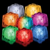 "Assorted Color LED Lited 1 1/2"" Ice Cubes - 12 Pack"