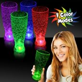 Multi-Color LED Tall Pilsner Glass