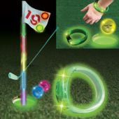 Green LED Golf Cup Ring-9 pack