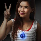 LED Peace Sign Necklace