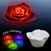 White Floating Multi Color LED Rose