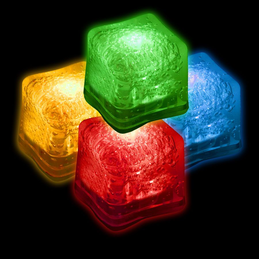 LED Ice Cubes-Variety of Colors-12 Pack LIT970DZ