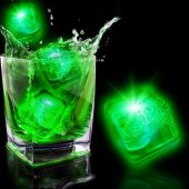 Neon Green LED and Light-Up Ice Cubes-12 Pack