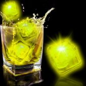 Neon Yellow LED Ice Cube-12 Pack