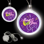 Mardi Gras LED and Light-Up Pendant Necklace