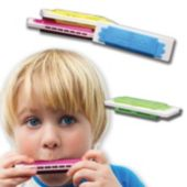 Assorted Color Plastic Harmonicas – 3 Inch, 12 Pack