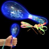 Blue LED Maracas - 6 Inch, 12 Pack